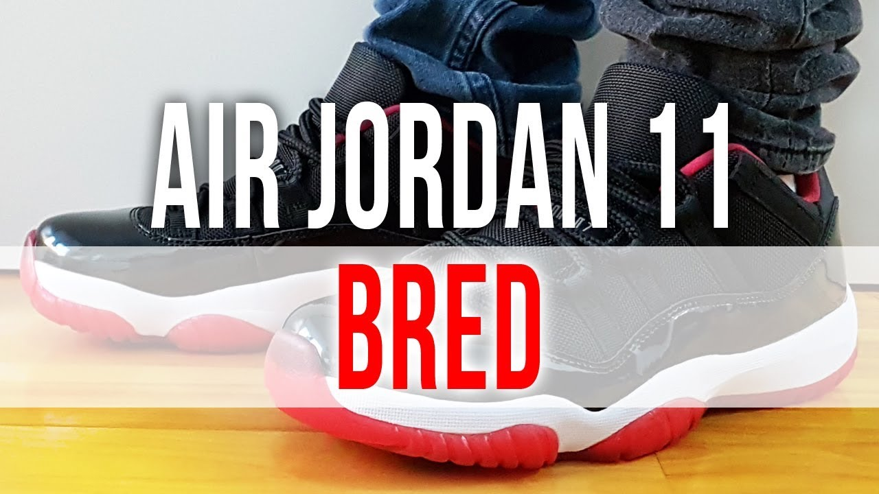 ac642b95e00fc5 AIR JORDAN 11 RETRO BRED LOW on Feet and Close Up - YouTube