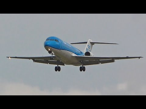 Very last KLM Cityhopper Fokker70 flight to Newcastle Airport
