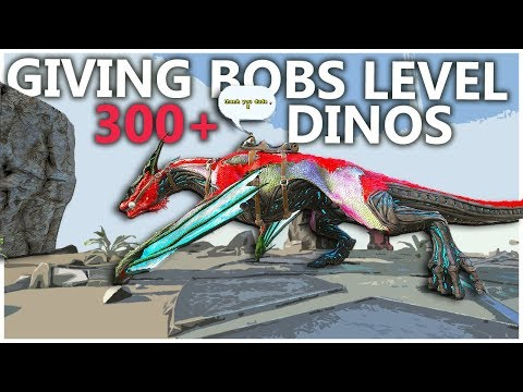 GIVING NOOBS LEVEL 300+ DINOS 2! SMALL TRIBES S4E36   Ark Survival Evolved