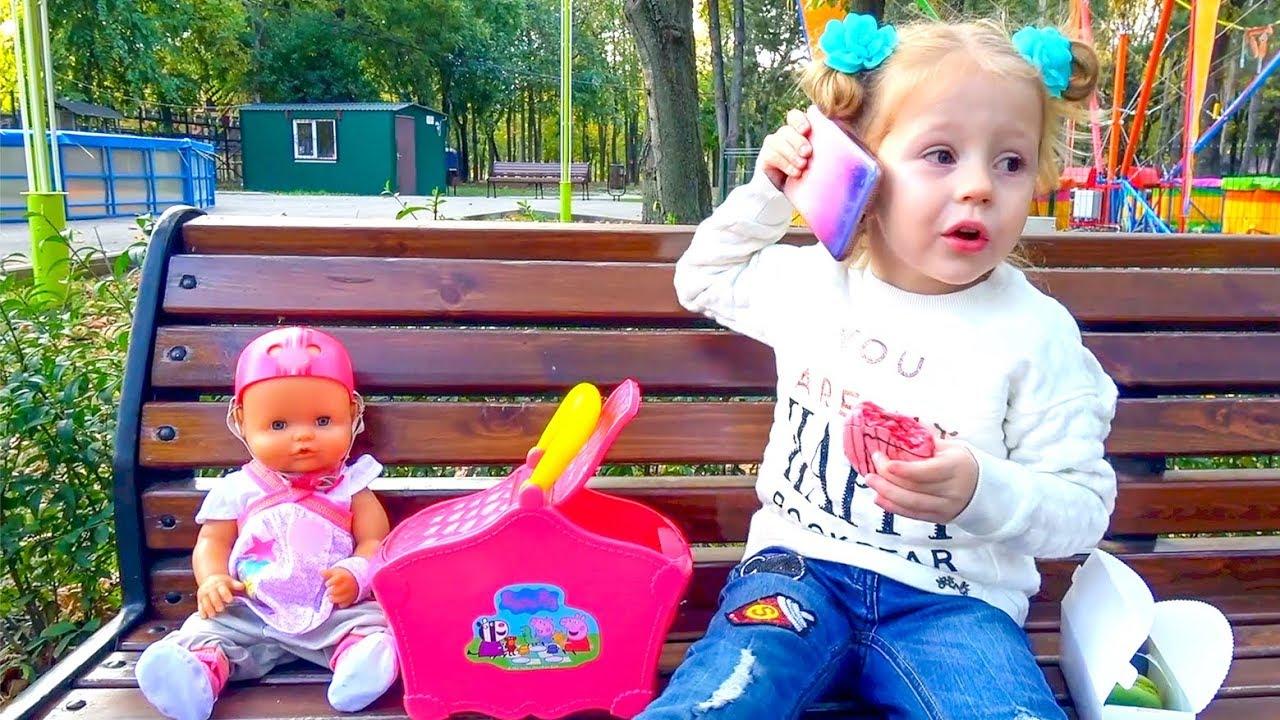 Кукла Беби Бон и день рождения с подарками для девочек от мишки