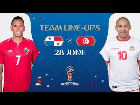 LINEUPS – PANAMA V TUNISIA - MATCH 46 @ 2018 FIFA World Cup™