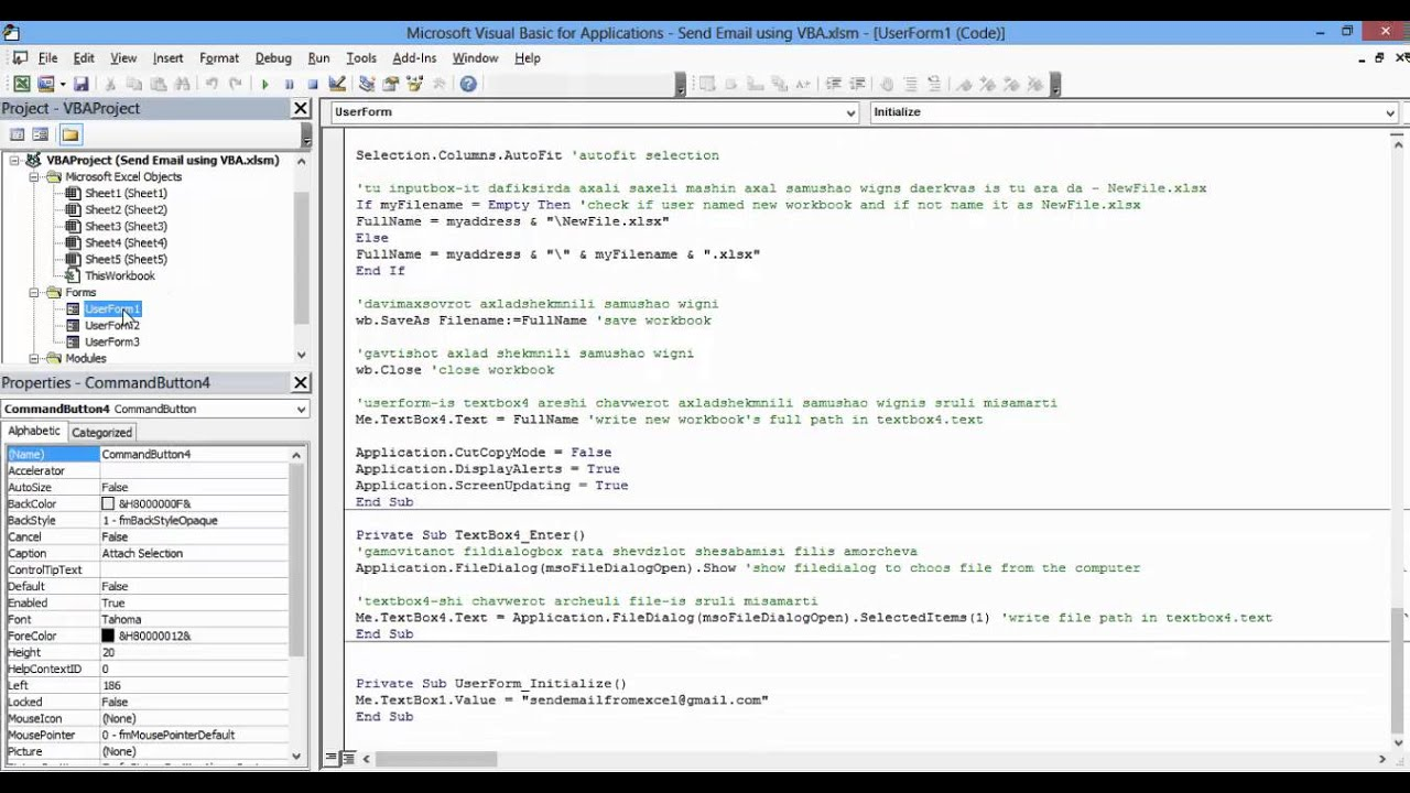 Send Email from Gmail using Excel VBA- Modified (with Code ...