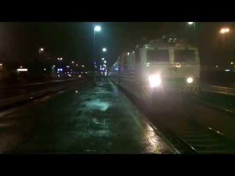 Trains In Bad Weather Turku, Finland.