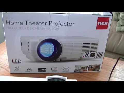 rca-home-theater-projector-rpj116-part-i---setup-and-hands-on