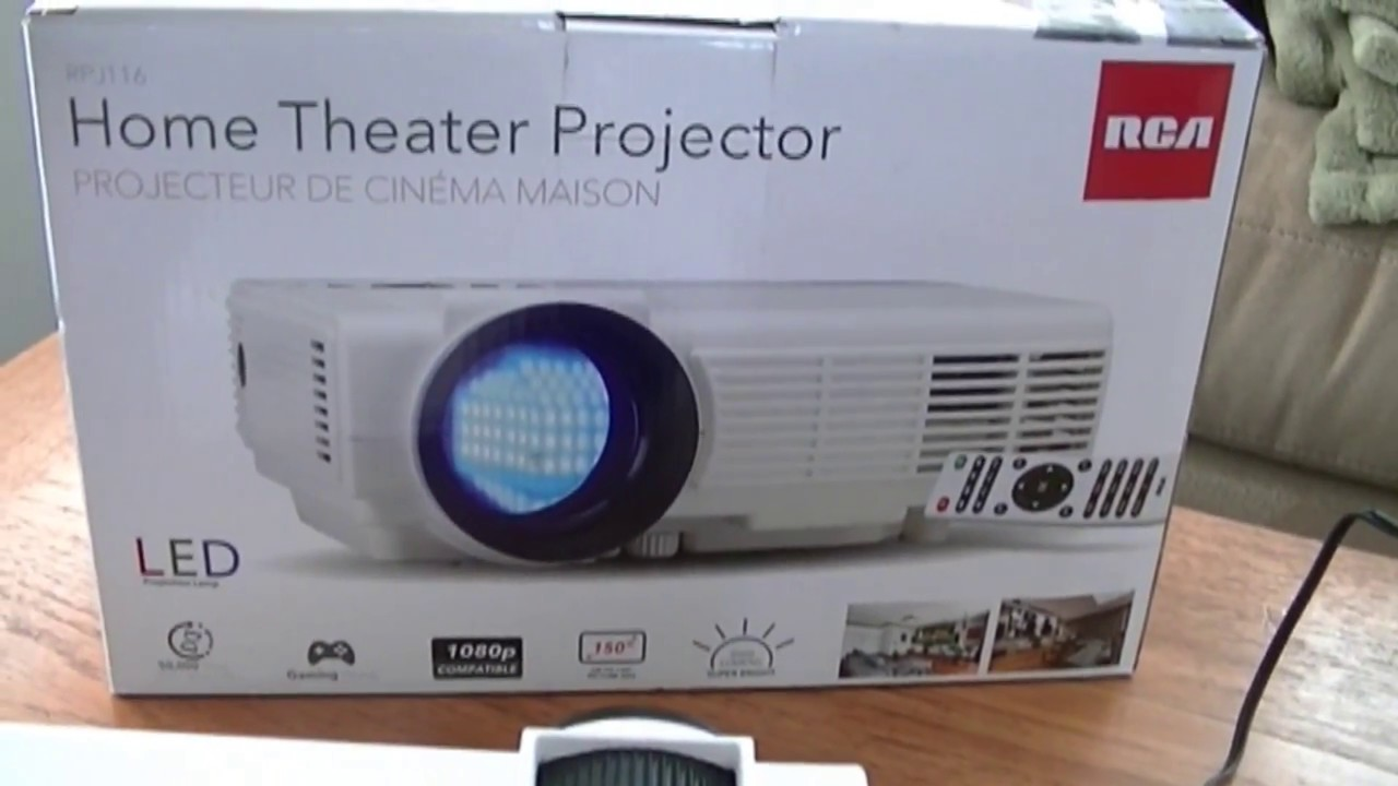RCA Home Theater Projector RPJ116 Part I - Setup and Hands-on