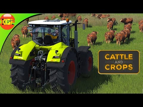 """Cattle and Crops gameplay #4- Feeding cows in the mission """"feed them to grow them"""""""