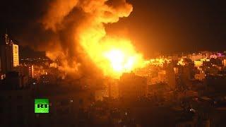 Армия обороны Израиля ответила массированным авиаударом на обстрелы со стороны сектора Газа