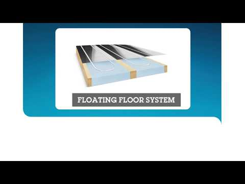 Underfloor heating installation for floating and battened floors