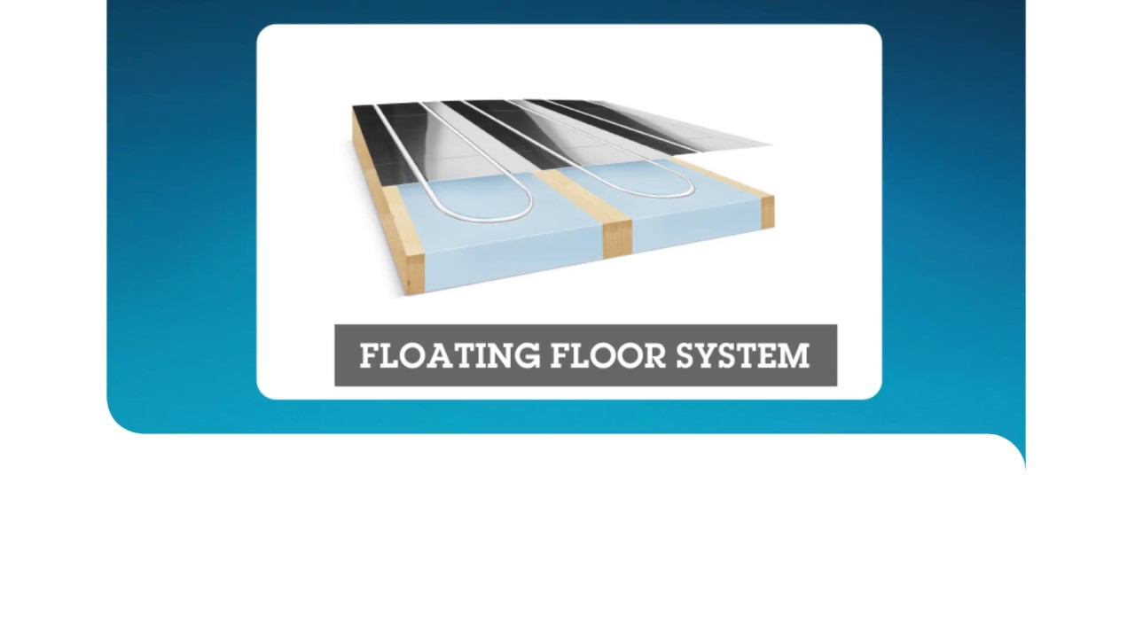 Underfloor heating installation for floating and battened floors ...