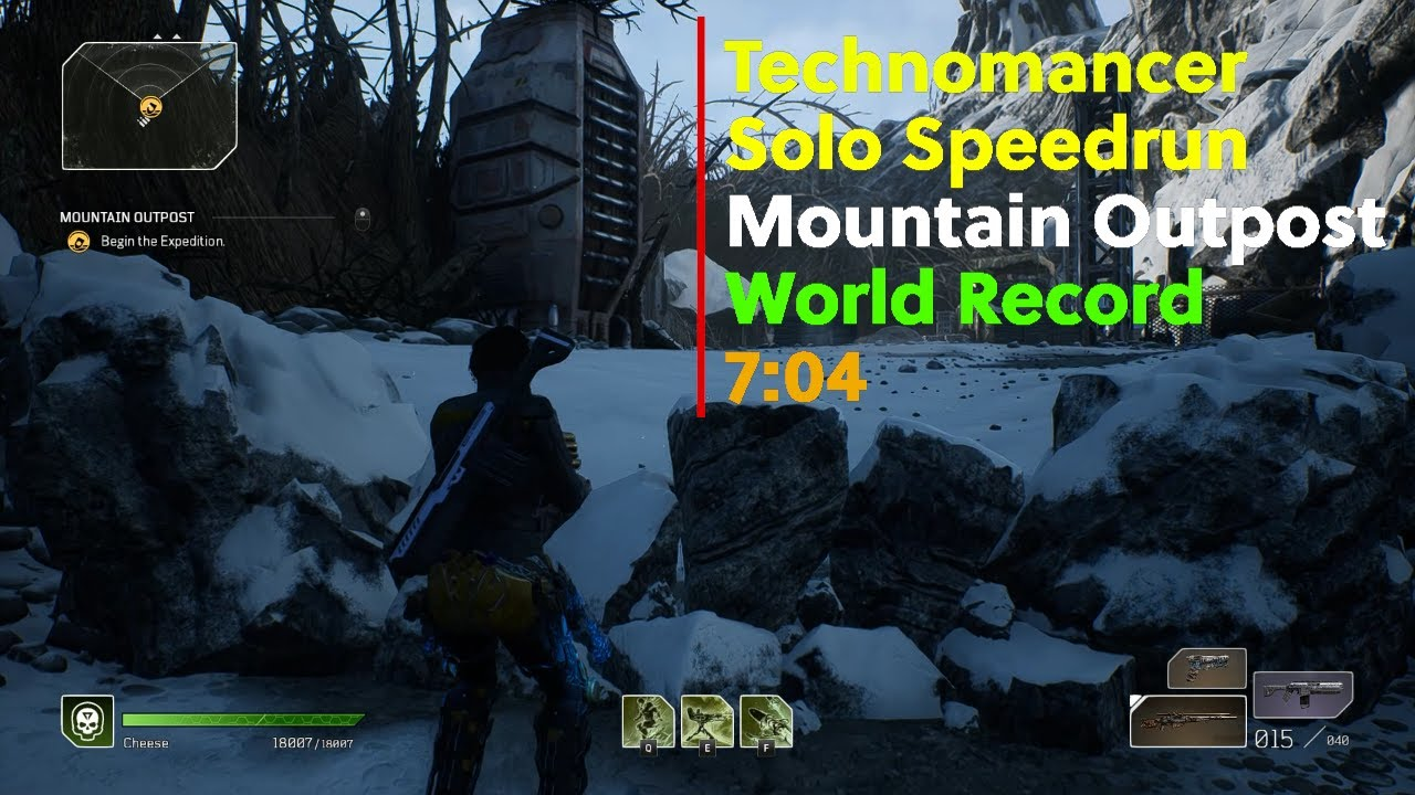 TECHNOMANCER SOLO SPEEDRUN | MOUNTAIN OUTPOST | WORLD RECORD 7:04 | Outriders