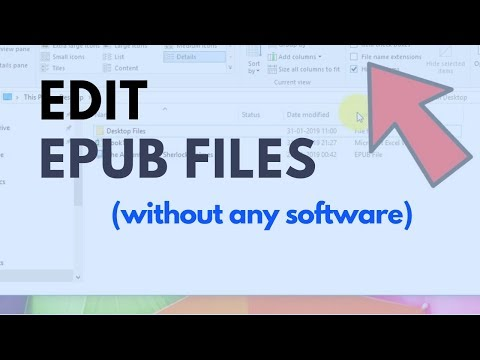 How To Edit EPub Files ( Without Any Software )