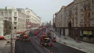 видео укладка асфальта в москве