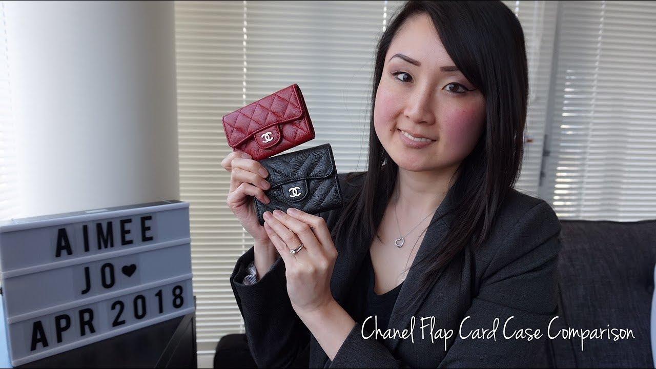 70905946490a Chanel flap card case comparison | Aimee Jo - YouTube