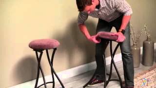 Innobella Destiny 29 In. Backless Folding Bar Stool In Brownstone - Product Review Video