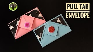 Pull Tab Envelope - Origami Tutorial by Paper Folds
