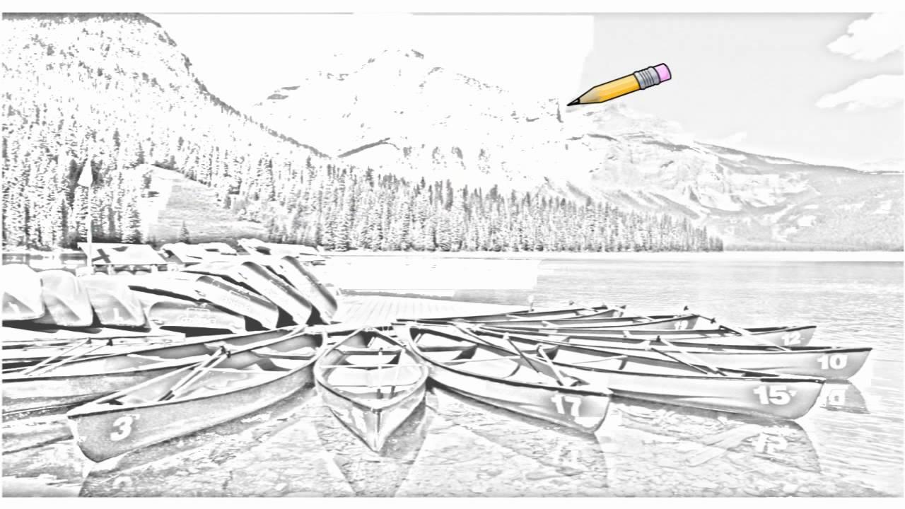 Auto draw 2 canoes emerald lake yoho national park british auto draw 2 canoes emerald lake yoho national park british columbia youtube freerunsca Gallery