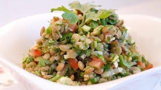 Mercimek Salatası Tarifi / Yeşil Mercimek Salatası