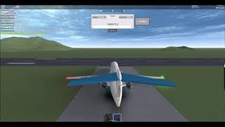 ROBLOX Air Aza Lea Fokker 100 Captain Flight!
