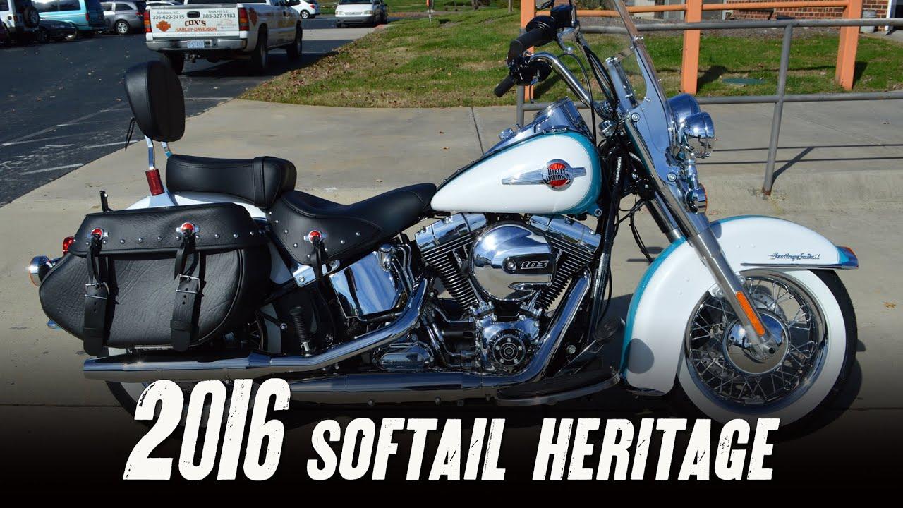 White Harley Davidson: SOLD! 2016 Harley-Davidson Softail Heritage Classic FLSTC