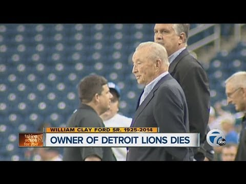 82ae50401e3 SR William Clay Ford Detroit Lions owner DIES AT age of 88 -2014 - YouTube