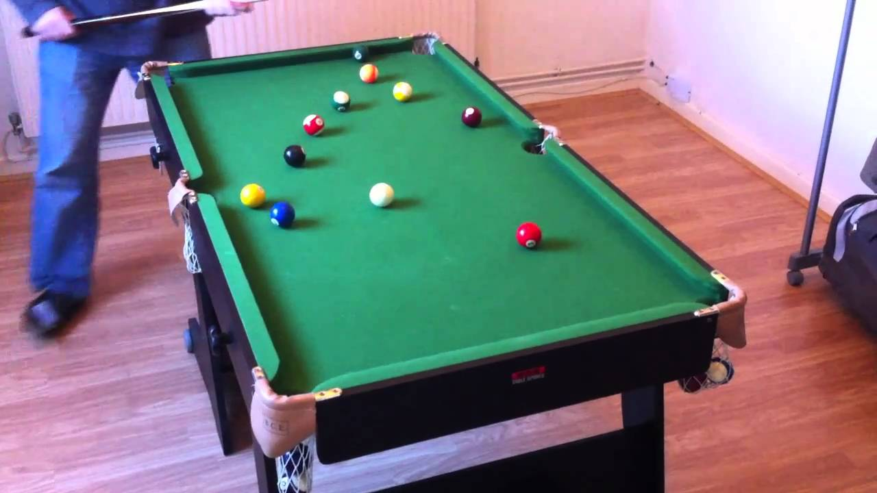 Snooker Table Folding 5ft Bce Riley Black Youtube