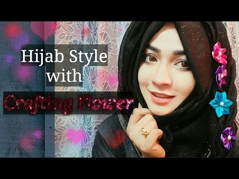 Hijab Style With Crafting Flower Parizaad Youtube