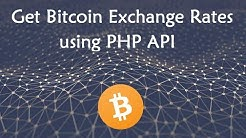 Get Bitcoin Exchange Rates using PHP API