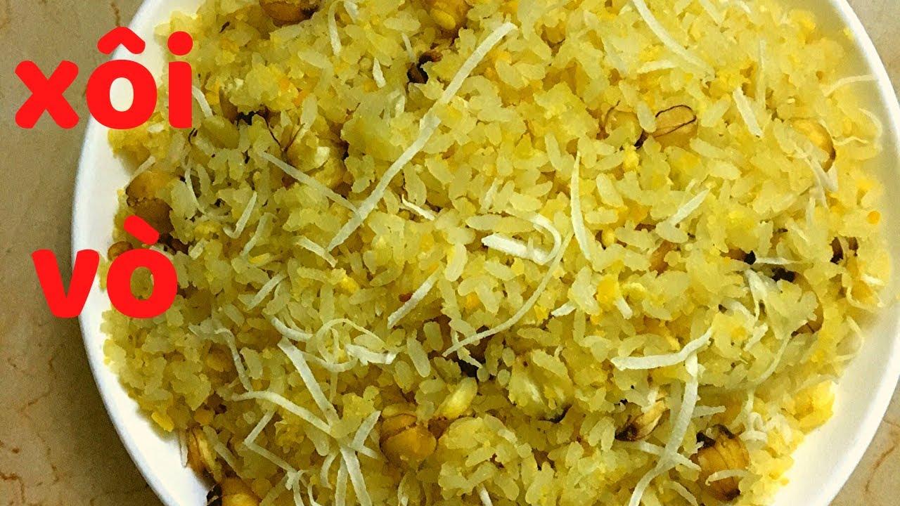 Bí quyết nấu xôi vò đậu xanh hạt sen cực ngon – How to Cook soft Sticky Rice with Green Beans