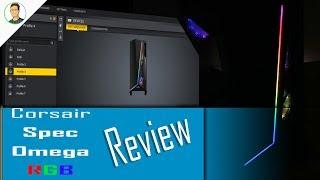 Cosair Spec Omega RGB Case Review + iCue Lighting Software Tour (Setup)