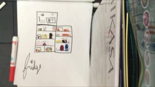 How to draw a OPENED FRIDGE