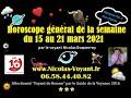 Horoscope général en ligne du 15 au 21 mars 202