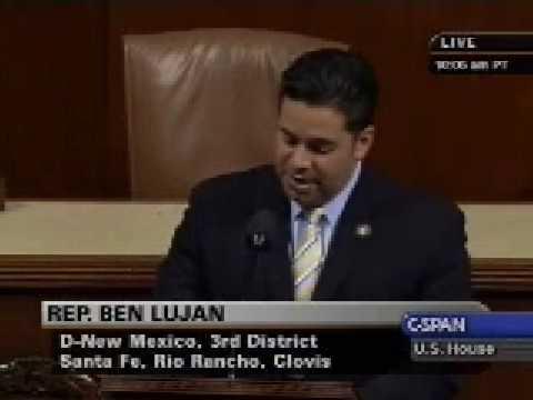 Rep. Ben Ray Lujan Delivers Floor Speech on Energy