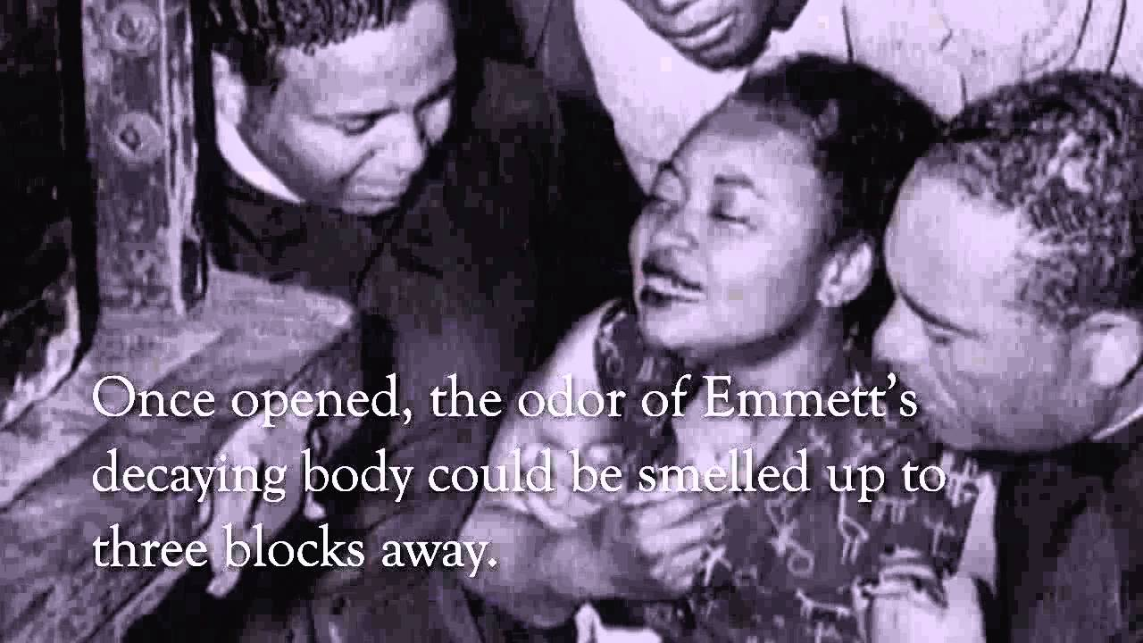 emmett till 2018-8-22  they murdered that boy, and to hide their dastardly act, they tied barbed wire to his neck and to a heavy gin fan and dumped him into the.