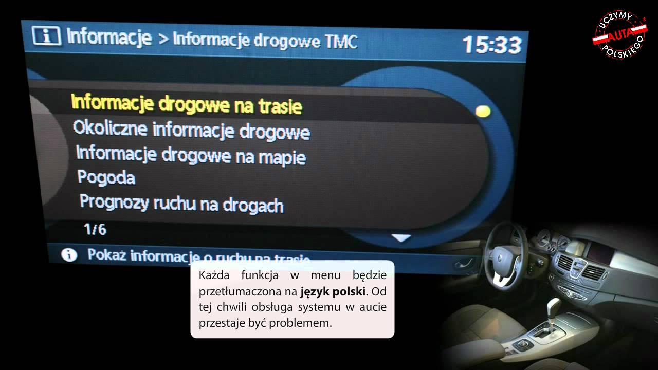 renault carminat 3 dvd cnc polski lektor polskie menu. Black Bedroom Furniture Sets. Home Design Ideas
