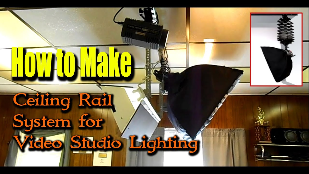 How to make ceiling rail system for video studio lighting youtube how to make ceiling rail system for video studio lighting aloadofball Image collections