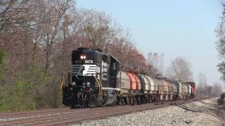 Amtrak Races Freight Train with Caboose!