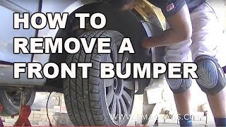 How to Remove a VW Golf Jetta MK5 Front Bumper Simple Easy Steps