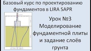 Базовый курс по проектированию фундаментов в Lira Sapr Урок 3