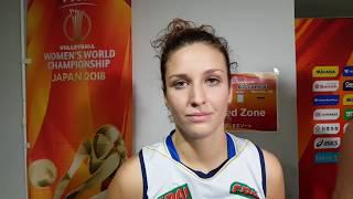 Mondiali Femminili 2018: il commento di Carlotta Cambi dopo Italia vs Russia