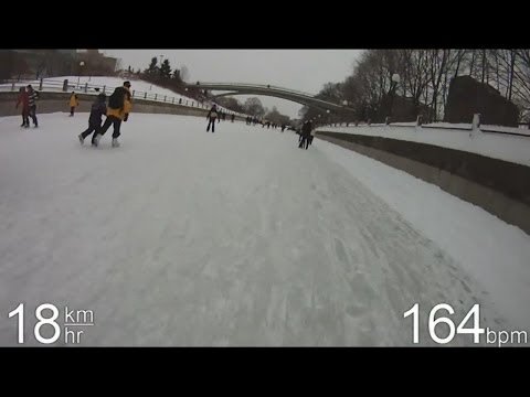 Skating the Rideau Canal - March 2014