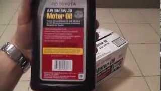 Оригинальное моторное масло Toyota 5w-20 SN(Оригинальное моторное масло Toyota 5w-20 SN, производства США Купить прямо сейчас http://amtecol.ru/magazin/ Рекомендовано..., 2013-08-05T19:44:06.000Z)