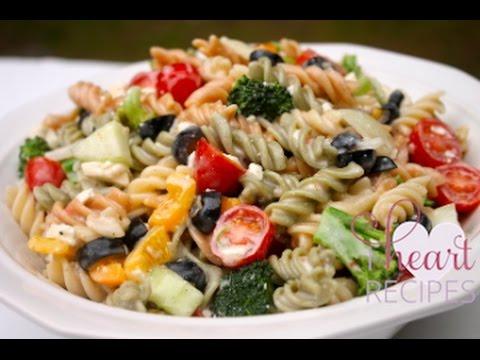 The BEST Creamy Italian Pasta Salad Recipe - I Heart Recipes - YouTube