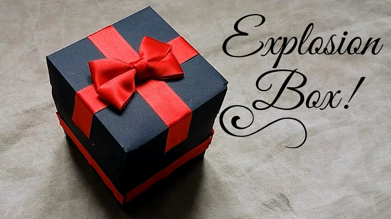 How To Make Exploding Box Birthday Step By Step Eksplodujace