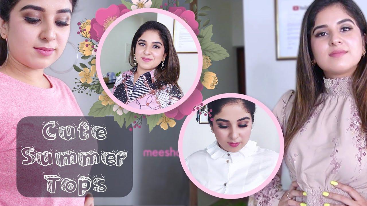 Cute Summer Tops - Meesho Haul - Aparna Thomas