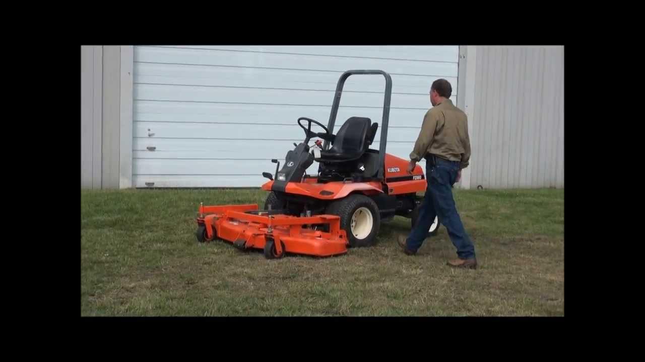 Lot 37  Kubota F2560 Front Mow Zero Turn Mower  3 cylinder diesel @  http://www AuctioneersNow com