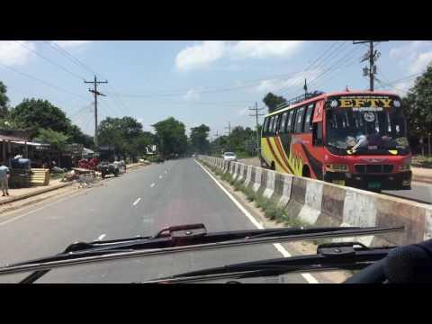 New Ena Hyundai Universe extreme speed in Dhaka-Sylhet Highway