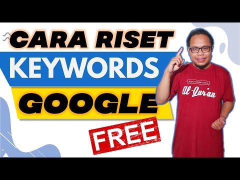 Cara Riset keyword menggunakan google keyword planner.