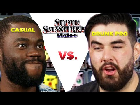 Regular Person Tries To Beat A Drunk Pro Gamer In Super Smash Bros Melee