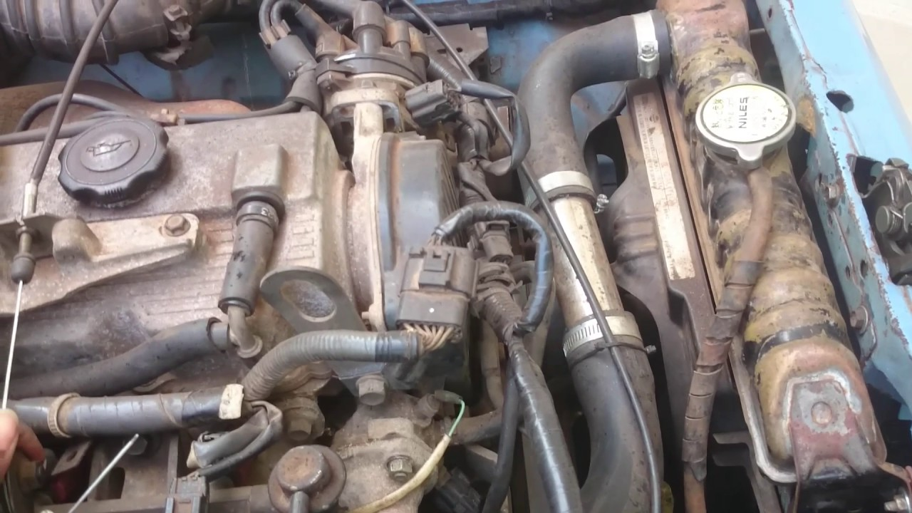 Maruti gypsy converted to Nissan vanette f8 engine