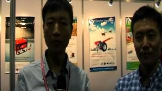 Chongqing Auten Technology Co. Ltd. Introduced Mini Tractor To Plow Land (exhibitorstv @ My Karachi)